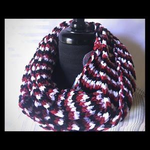 Accessories - Heart Throb Red Chenille Knit Infinity Loop Scarf